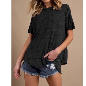 NWT Free People Cloud 9 Frayed Hem Tee.